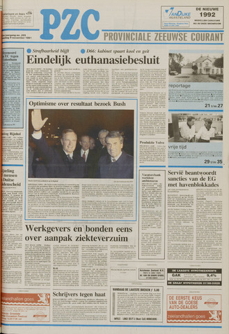 Provinciale Zeeuwse Courant 1991-11-09