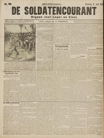 De Soldatencourant. Orgaan voor Leger en Vloot 1915-07-11