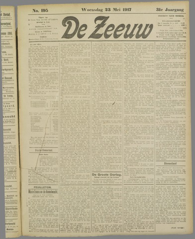 De Zeeuw. Christelijk-historisch nieuwsblad voor Zeeland 1917-05-23