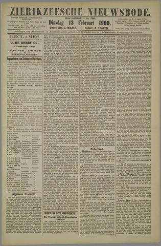 Zierikzeesche Nieuwsbode 1900-02-13