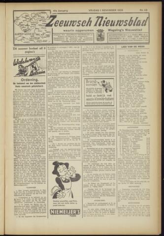Zeeuwsch Nieuwsblad/Wegeling's Nieuwsblad 1935-11-01