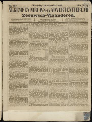 Ter Neuzensche Courant. Algemeen Nieuws- en Advertentieblad voor Zeeuwsch-Vlaanderen / Neuzensche Courant ... (idem) / (Algemeen) nieuws en advertentieblad voor Zeeuwsch-Vlaanderen 1866-11-28