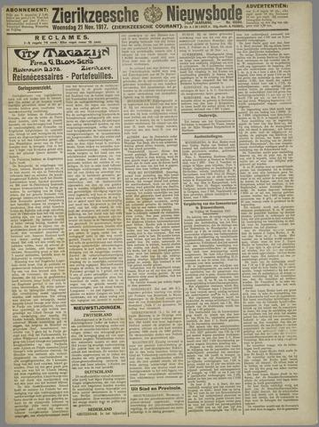 Zierikzeesche Nieuwsbode 1917-11-21