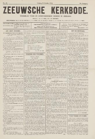 Zeeuwsche kerkbode, weekblad gewijd aan de belangen der gereformeerde kerken/ Zeeuwsch kerkblad 1936-10-30