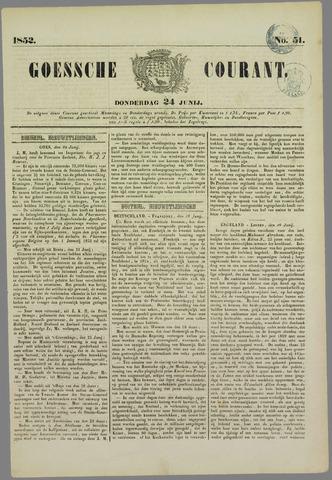 Goessche Courant 1852-06-24
