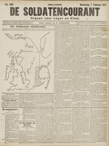 De Soldatencourant. Orgaan voor Leger en Vloot 1917-02-07