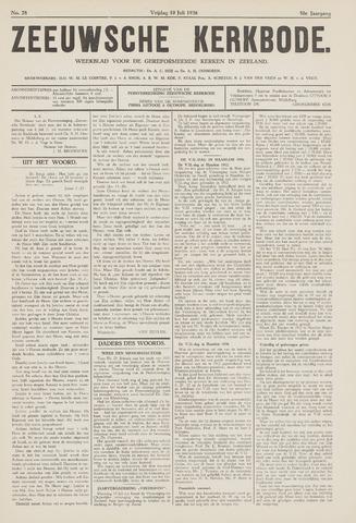 Zeeuwsche kerkbode, weekblad gewijd aan de belangen der gereformeerde kerken/ Zeeuwsch kerkblad 1936-07-10