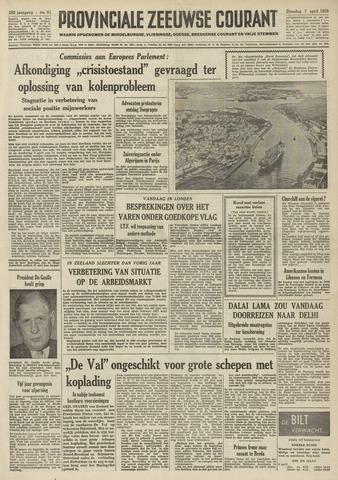Provinciale Zeeuwse Courant 1959-04-07
