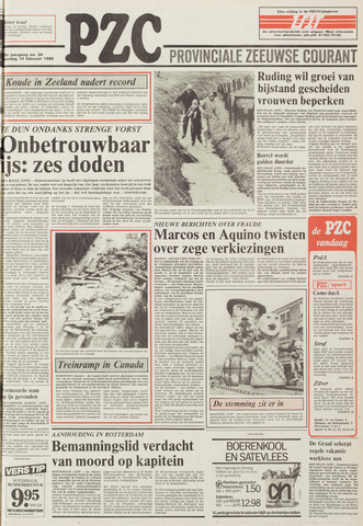 Provinciale Zeeuwse Courant 1986-02-10