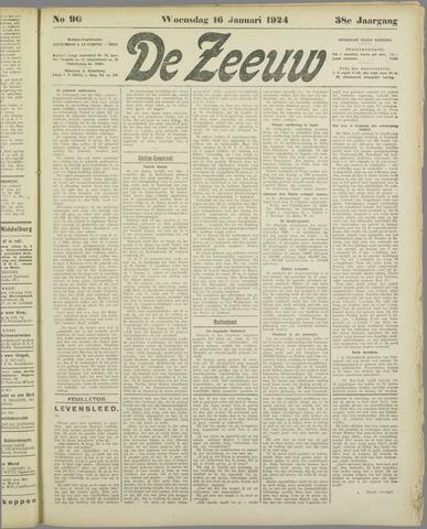 De Zeeuw. Christelijk-historisch nieuwsblad voor Zeeland 1924-01-16