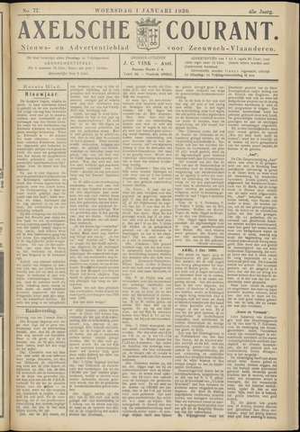 Axelsche Courant 1930
