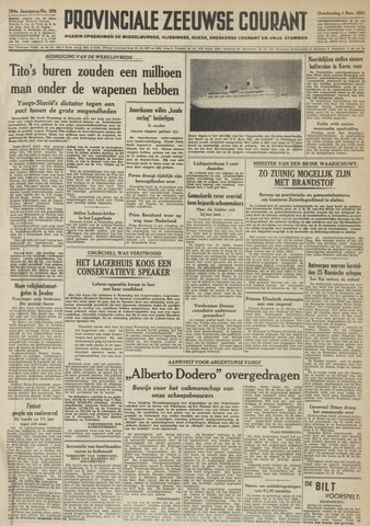 Provinciale Zeeuwse Courant 1951-11-01