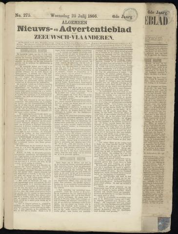 Ter Neuzensche Courant. Algemeen Nieuws- en Advertentieblad voor Zeeuwsch-Vlaanderen / Neuzensche Courant ... (idem) / (Algemeen) nieuws en advertentieblad voor Zeeuwsch-Vlaanderen 1866-07-25