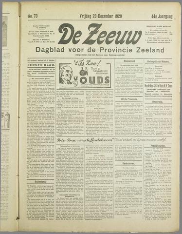 De Zeeuw. Christelijk-historisch nieuwsblad voor Zeeland 1929-12-20