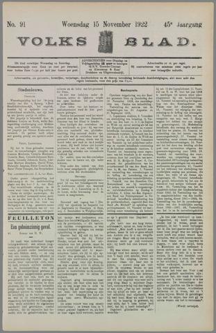 Volksblad 1922-11-15
