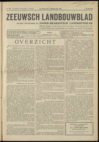 Zeeuwsch landbouwblad ... ZLM land- en tuinbouwblad 1952-02-09
