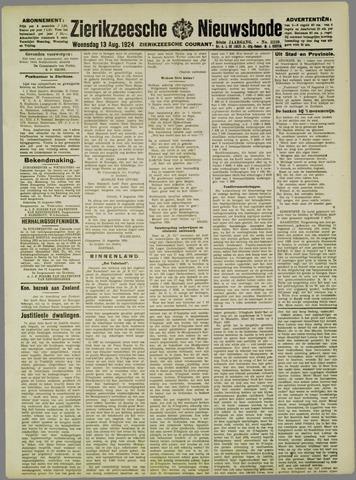 Zierikzeesche Nieuwsbode 1924-08-13