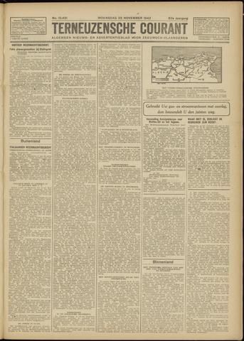 Ter Neuzensche Courant. Algemeen Nieuws- en Advertentieblad voor Zeeuwsch-Vlaanderen / Neuzensche Courant ... (idem) / (Algemeen) nieuws en advertentieblad voor Zeeuwsch-Vlaanderen 1942-11-25