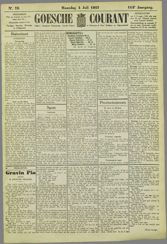 Goessche Courant 1927-07-04