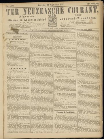 Ter Neuzensche Courant. Algemeen Nieuws- en Advertentieblad voor Zeeuwsch-Vlaanderen / Neuzensche Courant ... (idem) / (Algemeen) nieuws en advertentieblad voor Zeeuwsch-Vlaanderen 1911-09-23