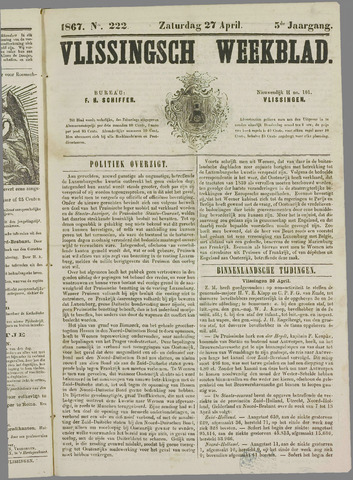 Vlissings Weekblad 1867-04-27