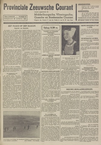 Provinciale Zeeuwse Courant 1941-04-25