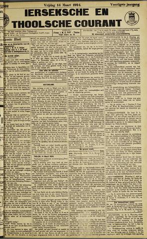 Ierseksche en Thoolsche Courant 1924-03-14
