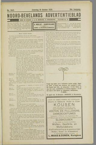 Noord-Bevelands Nieuws- en advertentieblad 1929-10-19