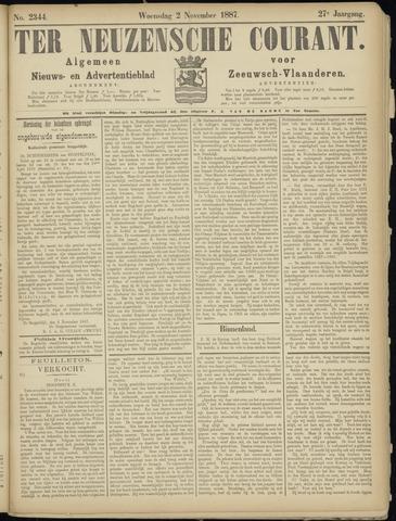 Ter Neuzensche Courant. Algemeen Nieuws- en Advertentieblad voor Zeeuwsch-Vlaanderen / Neuzensche Courant ... (idem) / (Algemeen) nieuws en advertentieblad voor Zeeuwsch-Vlaanderen 1887-11-02