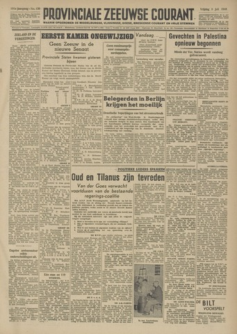 Provinciale Zeeuwse Courant 1948-07-09