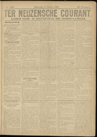 Ter Neuzensche Courant. Algemeen Nieuws- en Advertentieblad voor Zeeuwsch-Vlaanderen / Neuzensche Courant ... (idem) / (Algemeen) nieuws en advertentieblad voor Zeeuwsch-Vlaanderen 1924-01-21