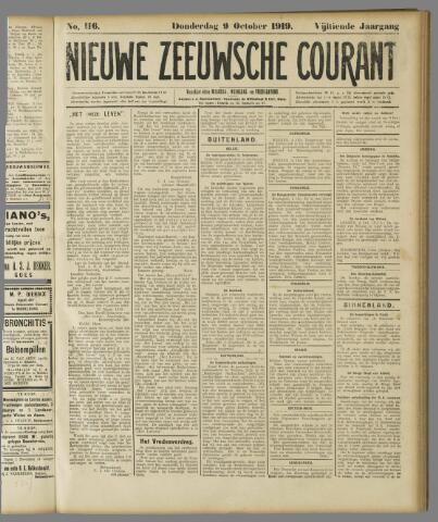 Nieuwe Zeeuwsche Courant 1919-10-09