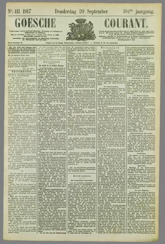 Goessche Courant 1917-09-20