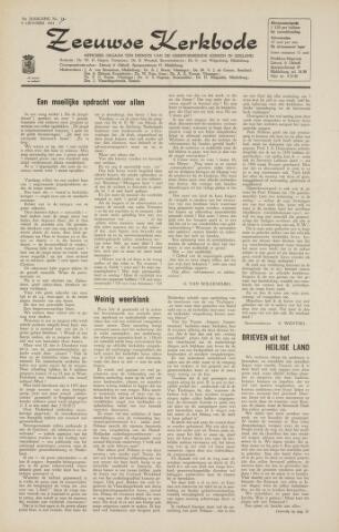 Zeeuwsche kerkbode, weekblad gewijd aan de belangen der gereformeerde kerken/ Zeeuwsch kerkblad 1964-10-09