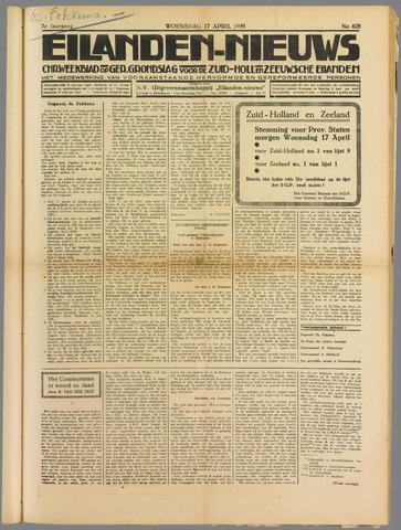 Eilanden-nieuws. Christelijk streekblad op gereformeerde grondslag 1935-04-17