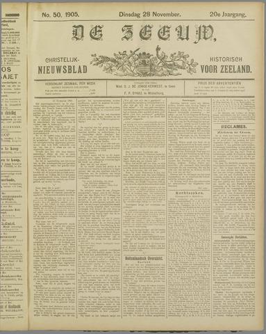 De Zeeuw. Christelijk-historisch nieuwsblad voor Zeeland 1905-11-28
