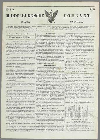 Middelburgsche Courant 1855-10-30