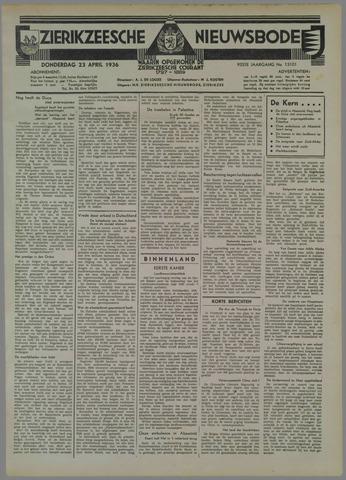 Zierikzeesche Nieuwsbode 1936-04-23