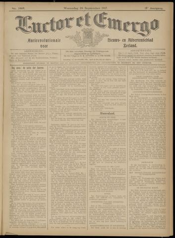 Luctor et Emergo. Antirevolutionair nieuws- en advertentieblad voor Zeeland / Zeeuwsch-Vlaanderen. Orgaan ter verspreiding van de christelijke beginselen in Zeeuwsch-Vlaanderen 1917-09-26