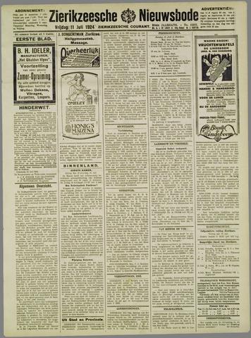 Zierikzeesche Nieuwsbode 1924-07-11