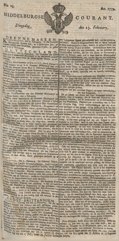 Middelburgsche Courant 1779-02-23