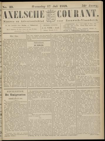 Axelsche Courant 1918-07-17