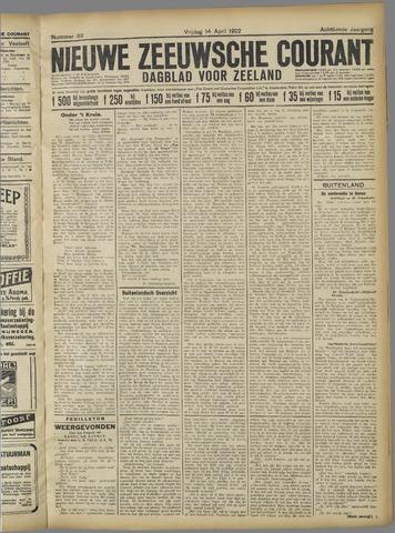 Nieuwe Zeeuwsche Courant 1922-04-14