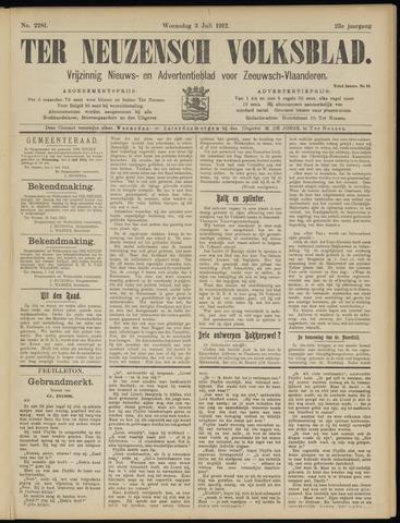 Ter Neuzensch Volksblad. Vrijzinnig nieuws- en advertentieblad voor Zeeuwsch- Vlaanderen / Zeeuwsch Nieuwsblad. Nieuws- en advertentieblad voor Zeeland 1912-07-03