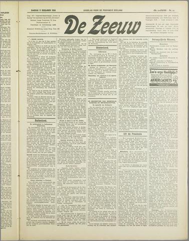 De Zeeuw. Christelijk-historisch nieuwsblad voor Zeeland 1934-12-11