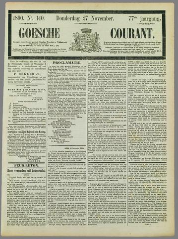 Goessche Courant 1890-11-27