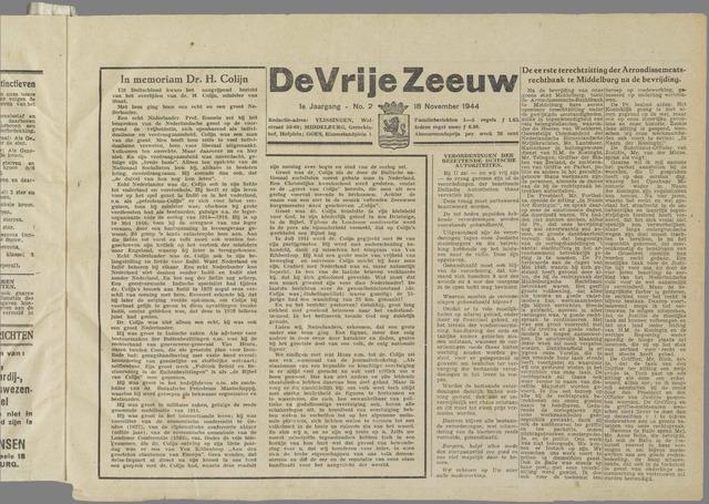 de Vrije Zeeuw 1944-11-18