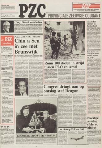 Provinciale Zeeuwse Courant 1986-12-01