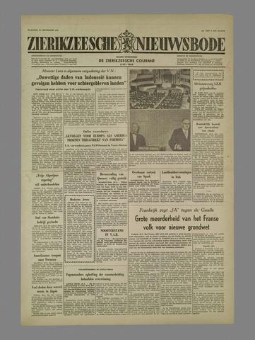 Zierikzeesche Nieuwsbode 1958-09-29