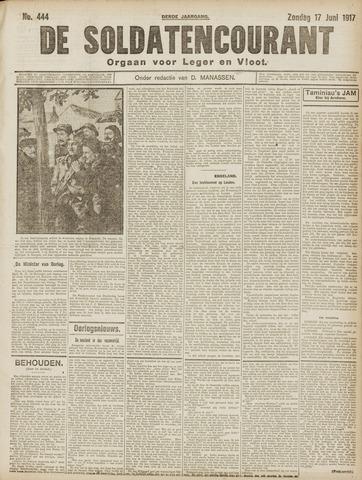 De Soldatencourant. Orgaan voor Leger en Vloot 1917-06-17